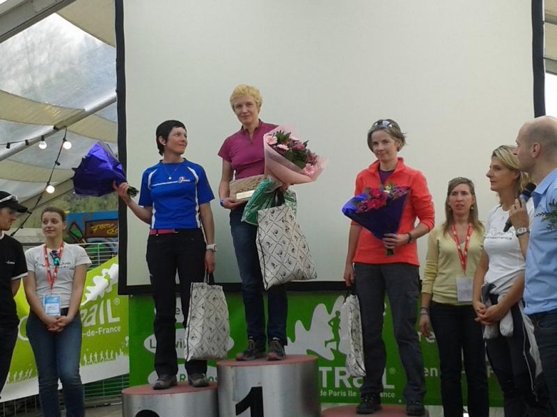 Podium Marche Nordique féminin
