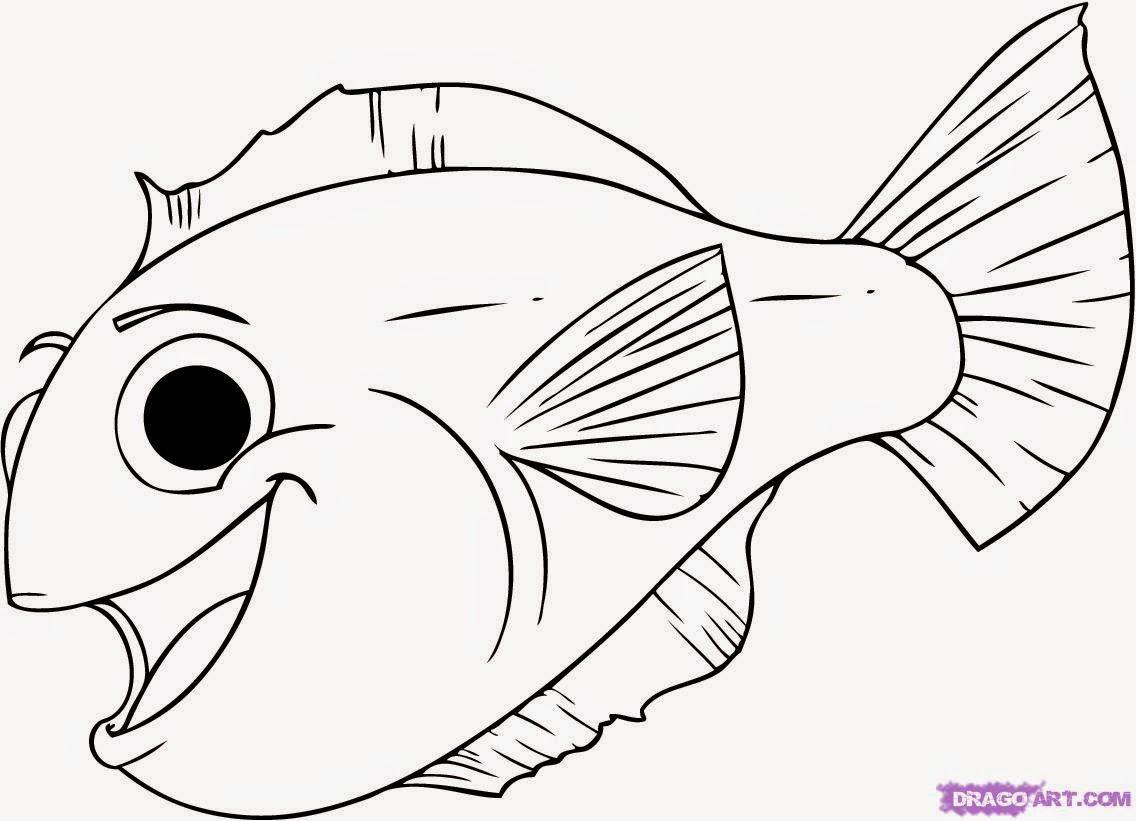 Download Gambar Ikan Hias Sketsa
