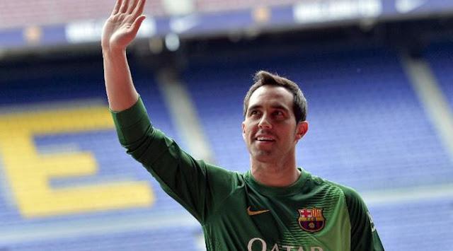 Barcelona setuju jual Claudio Bravo ke Manchester City