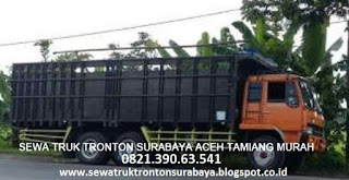 SEWA TRUK TRONTON SURABAYA ACEH TAMIANG (KARANG BARU) MURAH