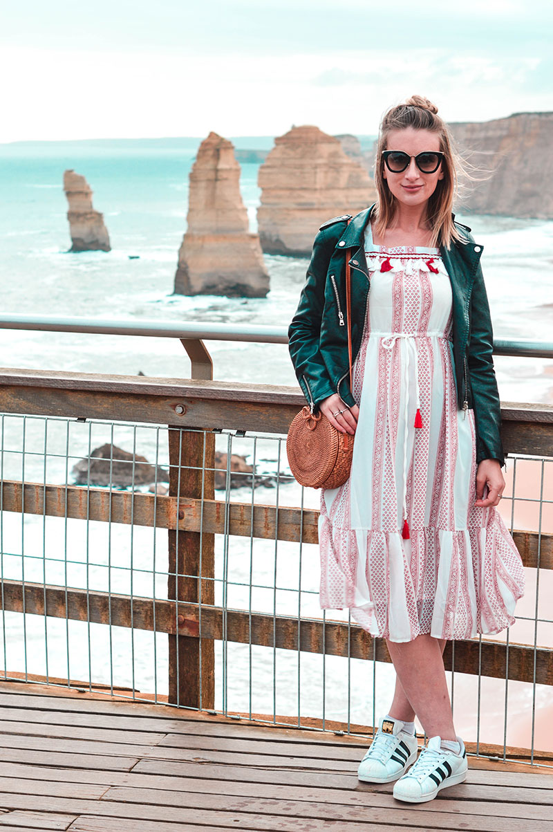 fashion shoot in front of 12 apostles great ocean road victoria australia
