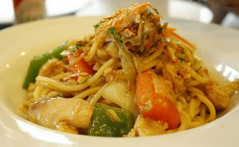 Chicken Spaghetti With Bell Peppers And Onions