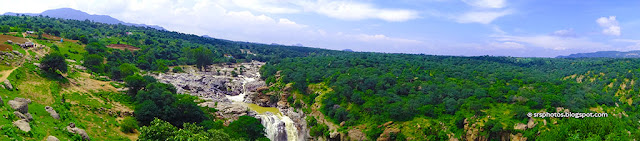 Panoramic View of Chunchi Falls, Kanakapura, Bangalore, Karnataka