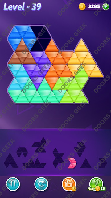 Block! Triangle Puzzle Proficient Level 39 Solution, Cheats, Walkthrough for Android, iPhone, iPad and iPod