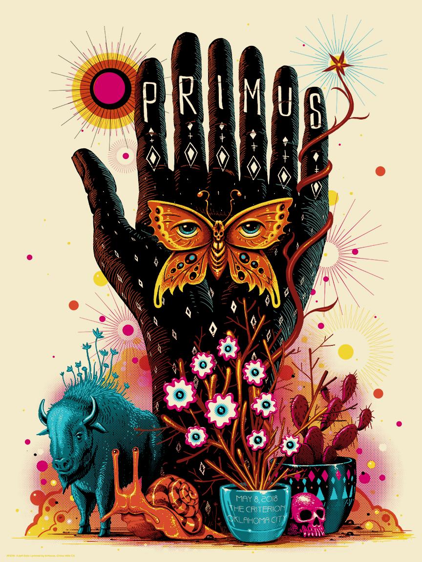 INSIDE THE ROCK POSTER FRAME BLOG: Jeff Soto Primus Oklahoma