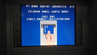 Notifikasi ambil kembali ATM BRI agar tidak lupa