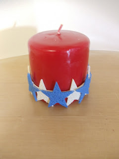 Patriotic Candle Sleeve with Makin's Clay®