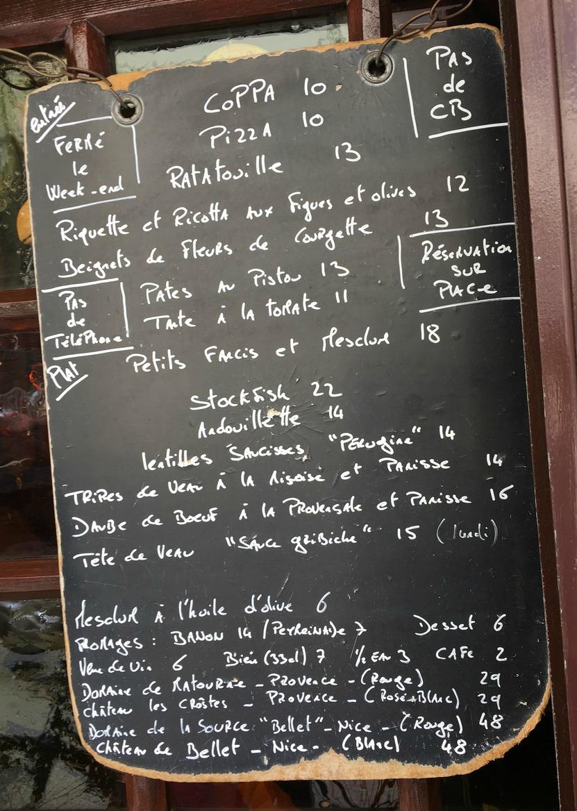 La Merenda menu