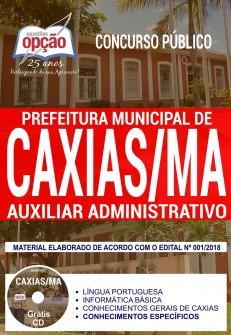 Apostila concurso da Prefeitura de Caxias Auxiliar Administrativo