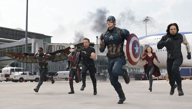 Team Cap, Captain America: Civil War, Airport Scene