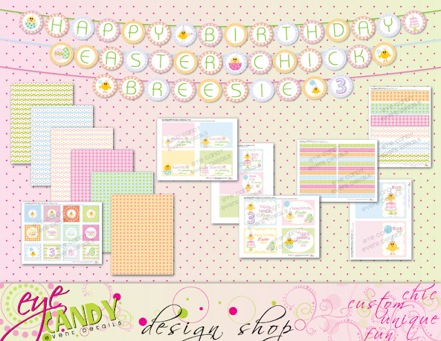 easter birthday printable collection, easter birthday, little chick, easter birthday party
