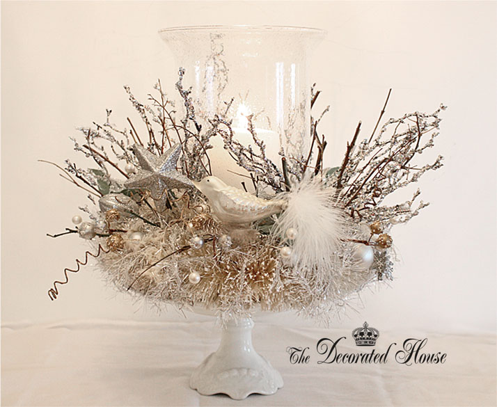 The Decorated House . Christmas Decoration . Mysthic Crown Nest . Anthropologie Inspired