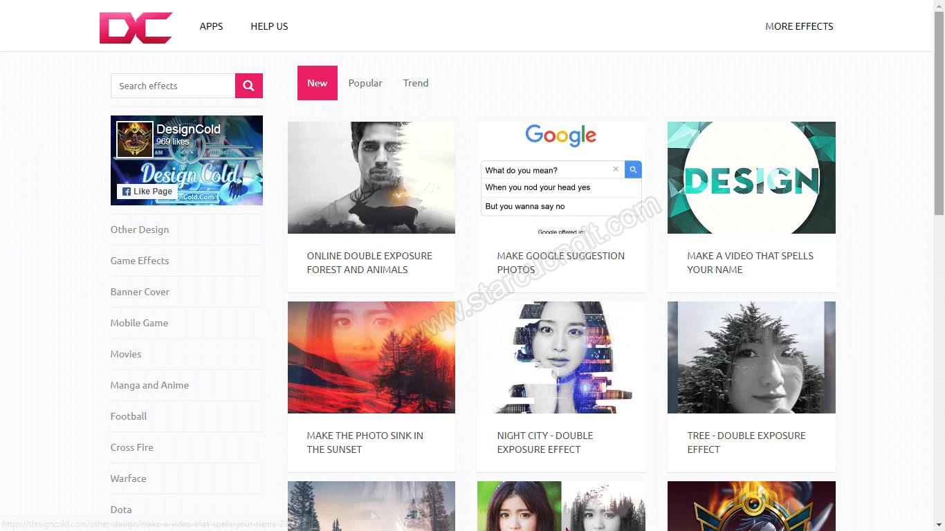 Tạo hiệu ứng chữ, xử lý ảnh chuyên nghiệp với DesignCold