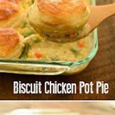 Yummy Biscuit Chicken Pot Pie