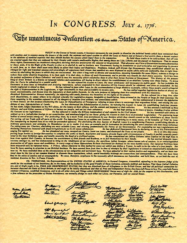 student version of decleration of independence Thomas jefferson was given the job of writing the declaration of independence by the second continental congress the declaration lists specific reasons for.