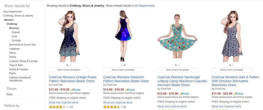 54a4b078209c8 The hamburger lollipop etc dress has 44 choices. The dinosaur dress has 27  choices. COWCOW plus size dresses up to 5x plus size unicorn ...