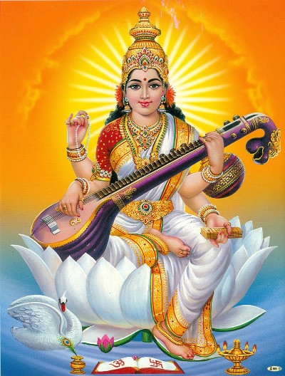 Hindu Goddess saraswati mata wallpaper