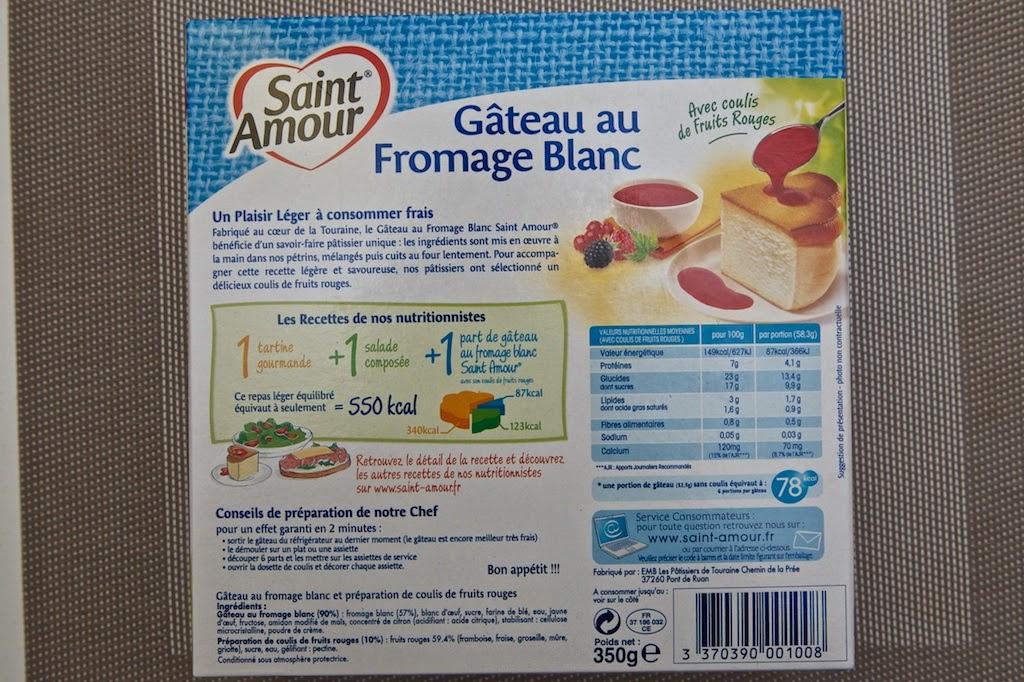 Calories gateau au fromage blanc