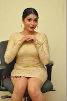 Actress Pooja Roshan Stills in Golden Short Dress at Box Movie Audio Launch  0055.JPG