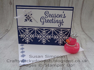 Stampin' Up! UK Independent  Demonstrator Susan Simpson, Craftyduckydoodah!, Snowflake Sentiments, October 2017 Coffee & Cards Project, Supplies available 24/7 from my online store,
