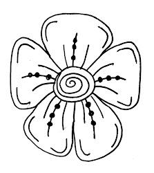 flowers draw flower easy doodle drawing drawings steps line corners petal fun step each very