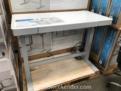 Don't be sitting all day when you can stand while working with the Tresanti Nouveau Adjustable Height Desk