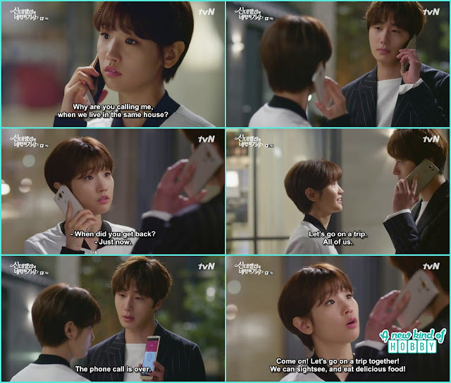 ha won call ji won and ask for ti go on a trip together but got rejected - Cinderella and Four Knights - Episode 7 Review - I Love Her, I Love Her Not