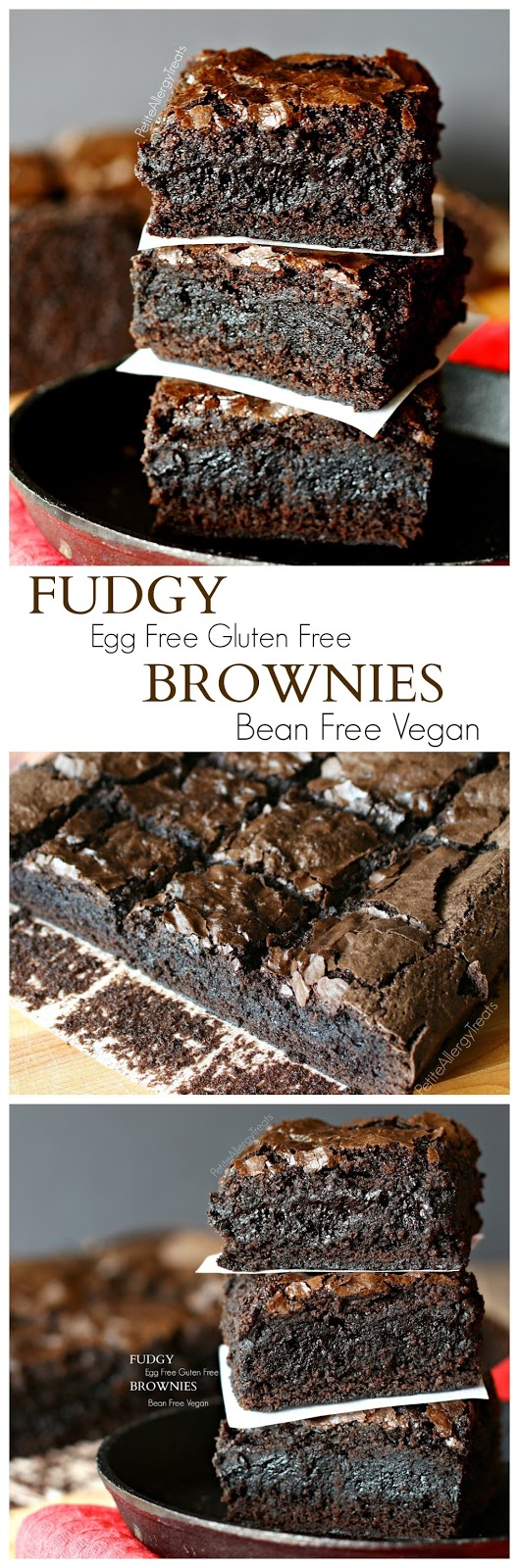 Fudgy Gluten Free Brownies (Egg Free) | Red White Apron