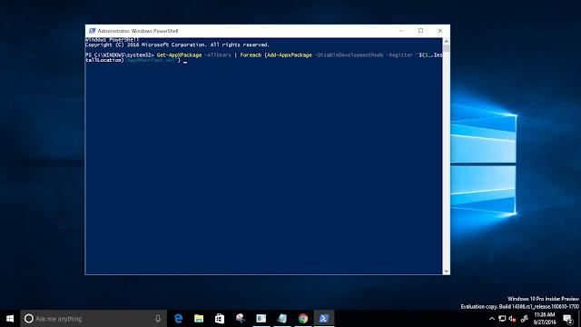 Re-register-windows-apps-on-windows-10