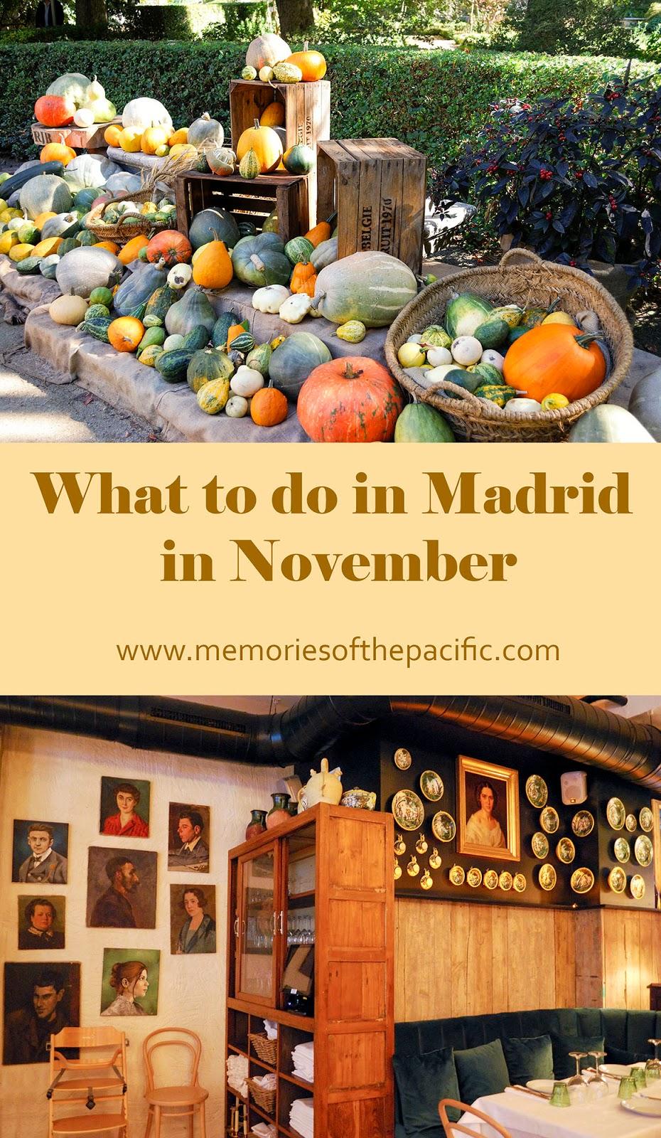 madrid november activities events