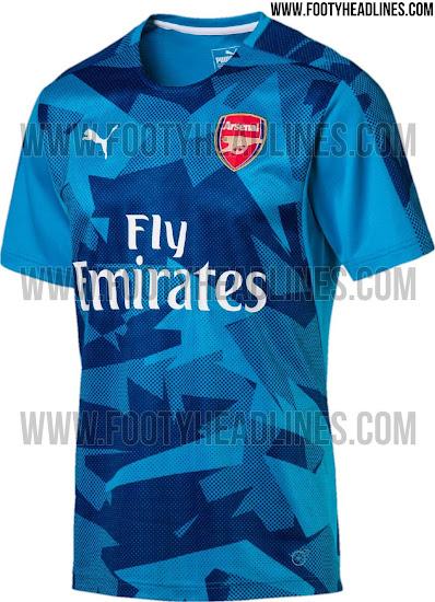 best service c2c22 07bb5 Outstanding Puma Arsenal 17-18 Pre-Match Home & Away Shirts ...