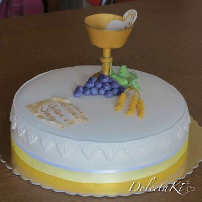 torta prima comunione calice uva spighe
