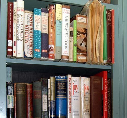 Julia Childs Kitchen: The Books In Julia Child's Kitchen