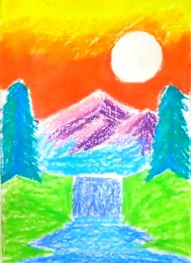 Cara Gambar Pemandangan : gambar, pemandangan, Menggambar, Terjun, Dengan, Mudah, Cilacap