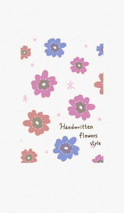 Handwritten flowers style