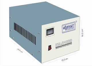 Medidas de un estabilizador solido de 1000W 1 kW / 1 kVA - 220vac