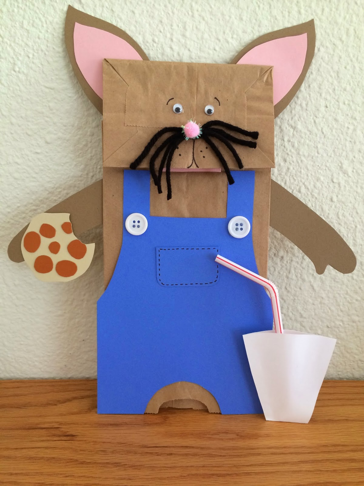 Kathy S Art Project Ideas If You Give A Mouse A Cookie Mouse Puppet Art Project