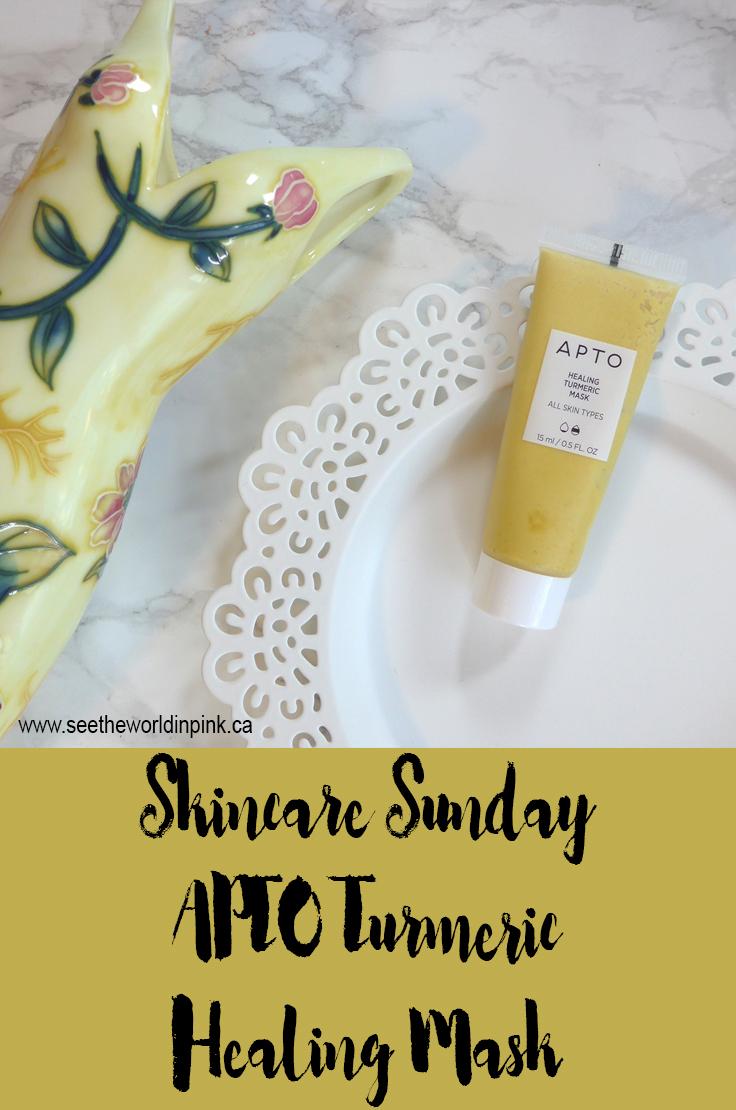 Skincare Sunday - APTO Healing Turmeric Mask