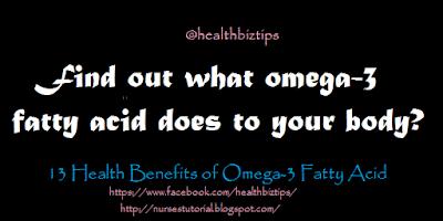 Health Benefits of Omega-3 Fatty Acid