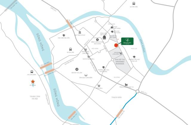 Vị trí đắc địa Eco City Long Biên