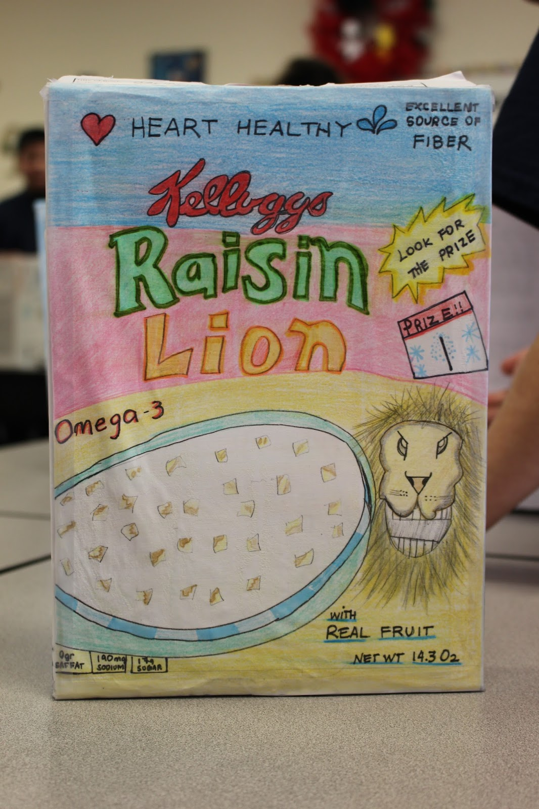 St Ann S 4b Narnia Cereal Box Book Report Examples