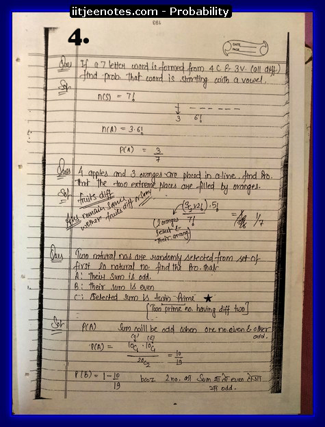 Probability notes3
