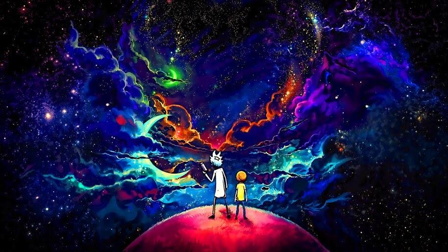 Rick And Morty Sky Stars 4k Wallpaper 5118