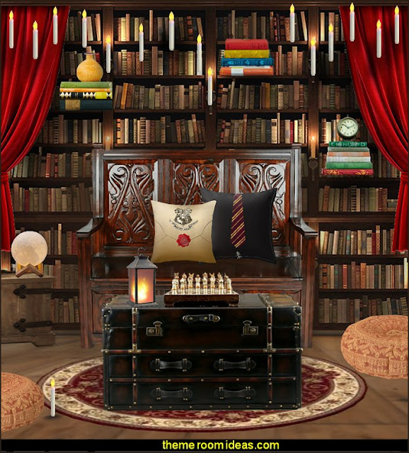 book themed decor - Bibliophiles decor - Book themed furnishings - home decor for book lovers - book themed bedroom -  Stacked Books decor -  Stacked Books furniture - bookworm decor -  book boxes - library furniture - formal study furniture - antique book decor -