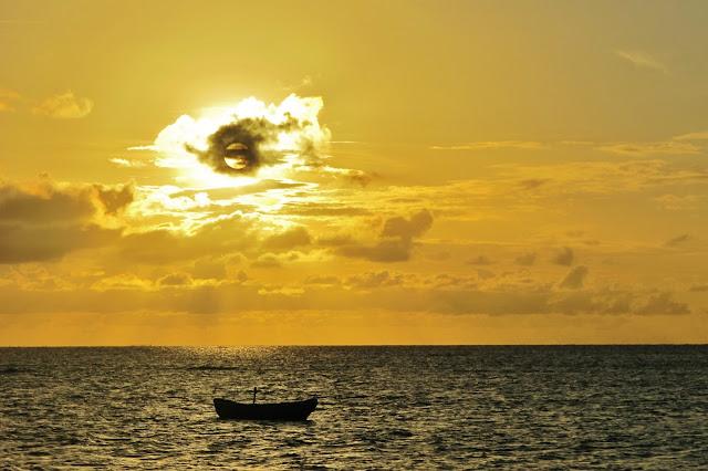 Pôr do Sol na Barra Grande, em Cajueiro da Praia, na Rota das Emoções