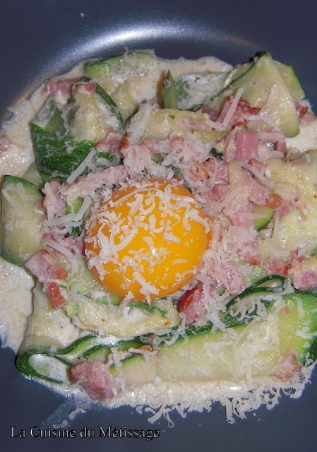 courgettes carbonara