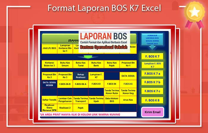 Format Laporan BOS K7 Excel