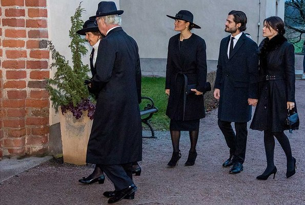 King Carl Gustaf, Queen Silvia, Crown Princess Victoria and Prince Carl Philip. Princess Sofia wore Rodebjer coat