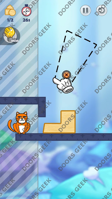 Hello Cats Level 96 Solution, Cheats, Walkthrough 3 Stars for Android and iOS