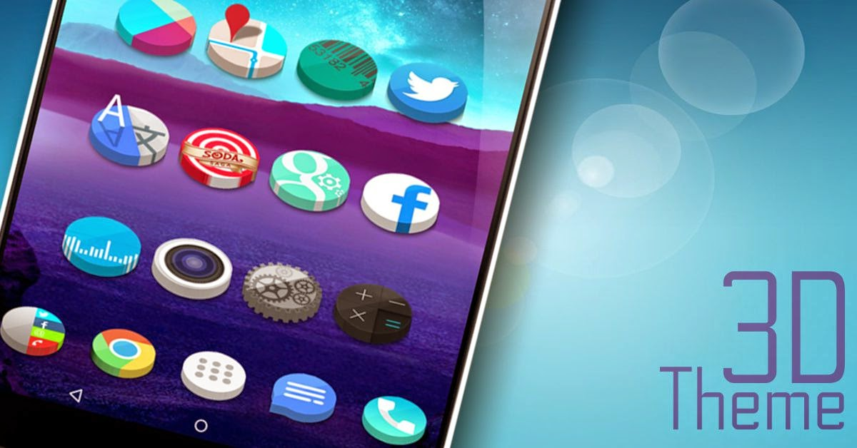 Themes For Android 3d Icon Pack To Go Launcher Action